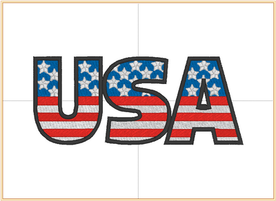 Patriotic Machine Embroidery Designs Fill (USA) - IC1derful Designs