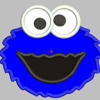 Cookie Monster Embroidery Applique Design - IC1derful Designs