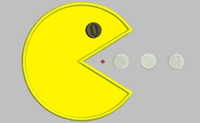 Pac Man Machine Embroidery Applique Design - IC1derful Designs