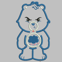 Care Bears Embroidery Applique Designs - GRUMPY - IC1derful Designs