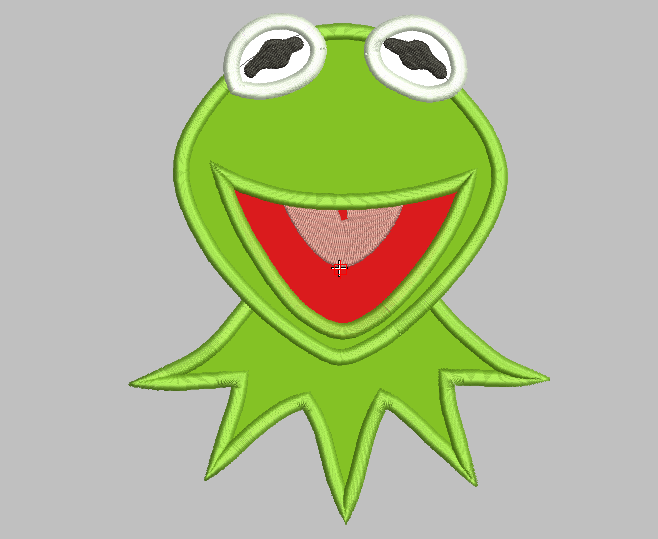 Kermit Muppet Embroidery Applique Designs - IC1derful Designs