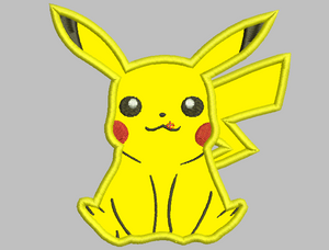 Pikachu Embroidery Applique Designs - IC1derful Designs