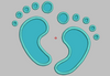 Cute Baby Feet Embroidery Applique Designs - IC1derful Designs