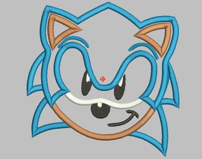 770497a57 Sonic The hedgehog Machine Embroidery Applique Design   IC1derful ...