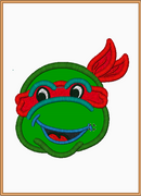 Kids Ninja Turtle Embroidery Applique Design - IC1derful Designs