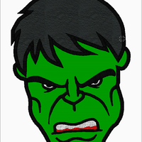 Incredible HULK Head Embroidery Applique Designs - IC1derful Designs