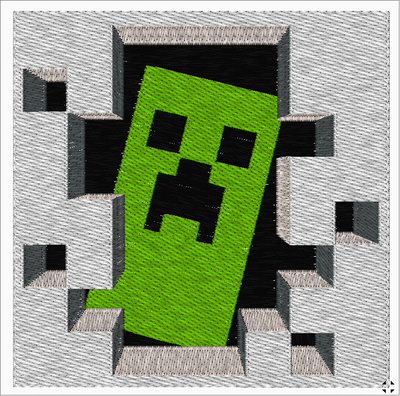 Minecraft Machine Embroidery Designs - IC1derful Designs