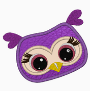 Farm OWL Face Embroidery Applique and Fill Stitch Designs - IC1derful Designs
