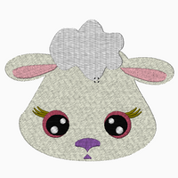 Farm SHEEP Face Embroidery Applique and Fill Stitch Designs - IC1derful Designs