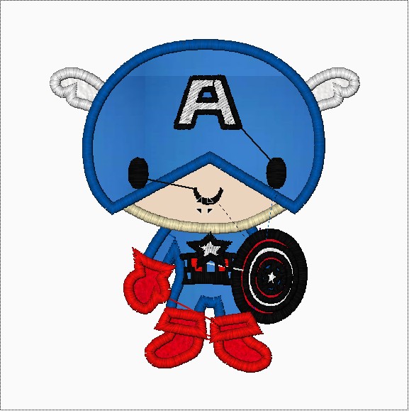 Marvel Kids CAPTAIN AMERICA Machine Embroidery Applique Designs - IC1derful Designs