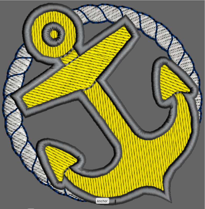 Anchor Machine Embroidery Fill Stitch Design - IC1derful Designs