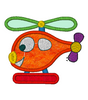 Helicopter Embroidery Applique Design - IC1derful Designs