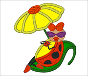 LadyBug Embroidery Applique Designs Combo Set - IC1derful Designs