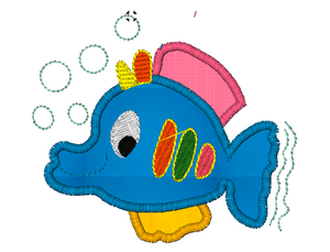 Fish Embroidery Applique Designs Combo Set - IC1derful Designs