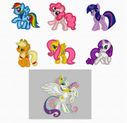 My Little Pony Embroidery Applique Designs - Combo - IC1derful Designs