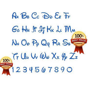 Disney Font Embroidery Design (Fill Stitch) - IC1derful Designs