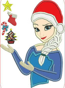 Disney ELSA Embroidery Applique Designs XMAS - IC1derful Designs