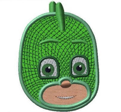 PJ Mask Gekko Embroidery Applique Design - IC1derful Designs