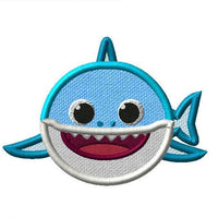 Baby Shark Front Embroidery Applique Design - IC1derful Designs
