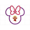 "Minnie Mouse Embroidery Applique Designs ""Head/Bow"" - IC1derful Designs"