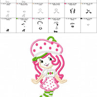 Strawberry Shortcake Embroidery Applique Design - IC1derful Designs