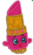 "Shopkins Embroidery Applique Designs ""Lippy Lipps"" - IC1derful Designs"