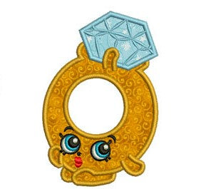 "Shopkins Embroidery Applique Designs ""Roxy Ring"" - IC1derful Designs"