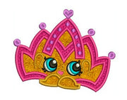 "Shopkins Embroidery Applique Designs ""TIARA"" - IC1derful Designs"