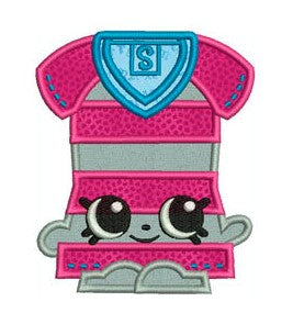"Shopkins Embroidery Applique Designs ""Bop Top"" - IC1derful Designs"