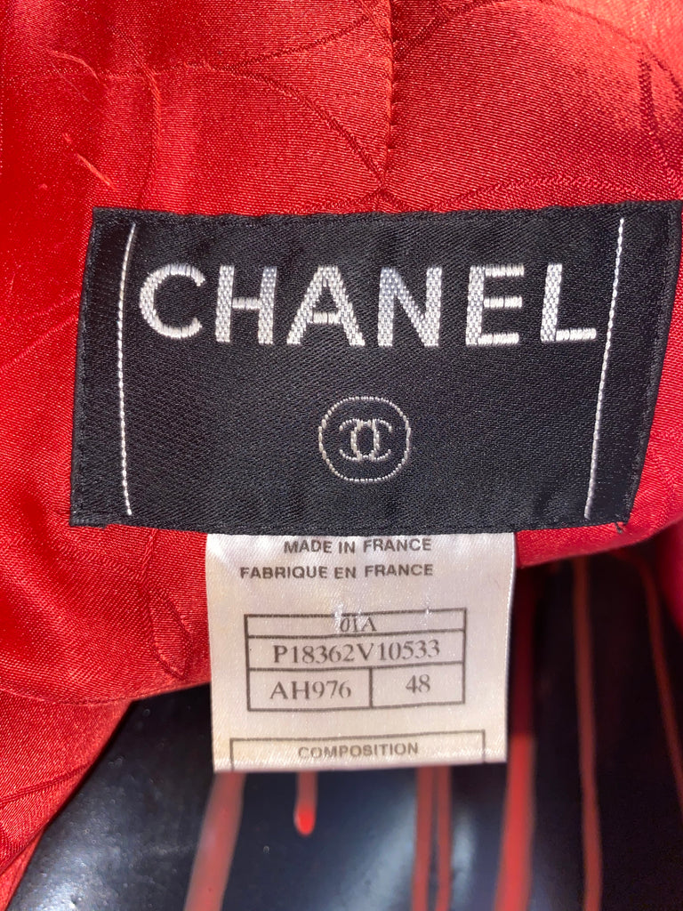 CHANEL VINTAGE TWEED DRESS COAT