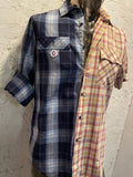 DEUX PLAID BUTTON UP