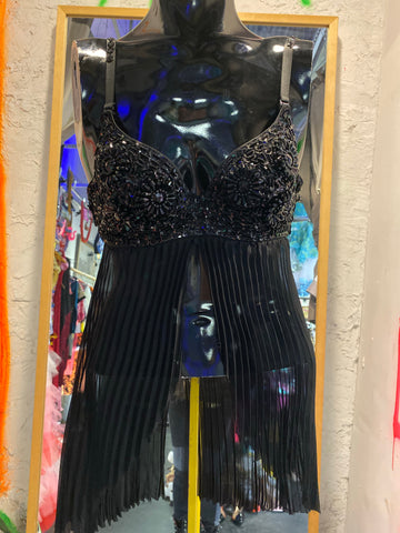 NASTY GAL BLACK BUSTIER DRESS