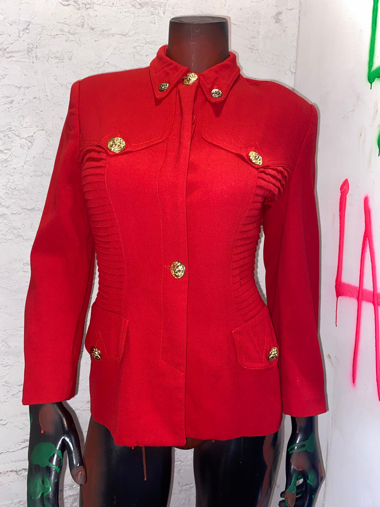 VINTAGE RED MILITARY STYLE JACKET