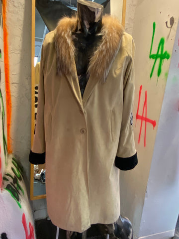 Vintage Fur and Suede Coat