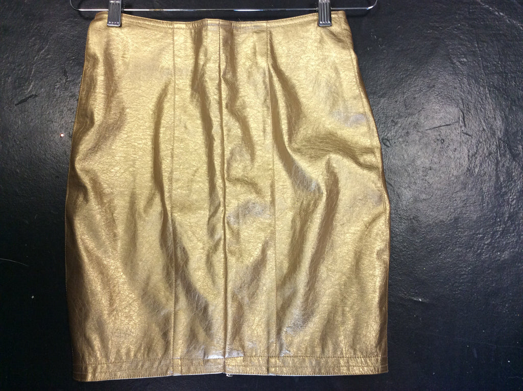 GOLD LEATHER SKIRT