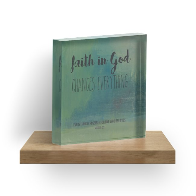 """Faith In God"" 1"" Decorative Acrylic Block"