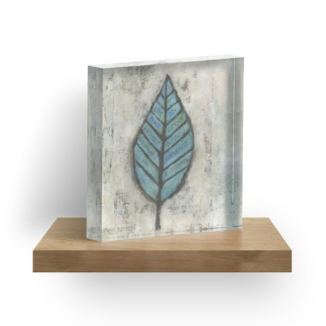 """Fruit of the Spirit"" 1"" Decorative Acrylic Block"