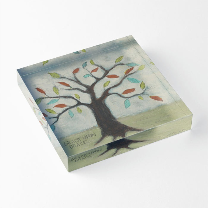 "Grace Upon Grace 1"" Decorative Acrylic Block"
