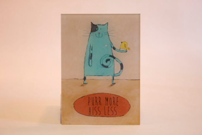 """Purr More""- 5x7 Deluxe Oversized Acrylic Magnet"