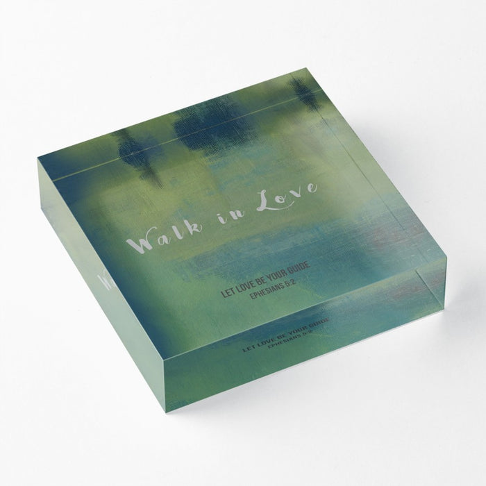 "Walk in Love 1"" Decorative Acrylic Block"