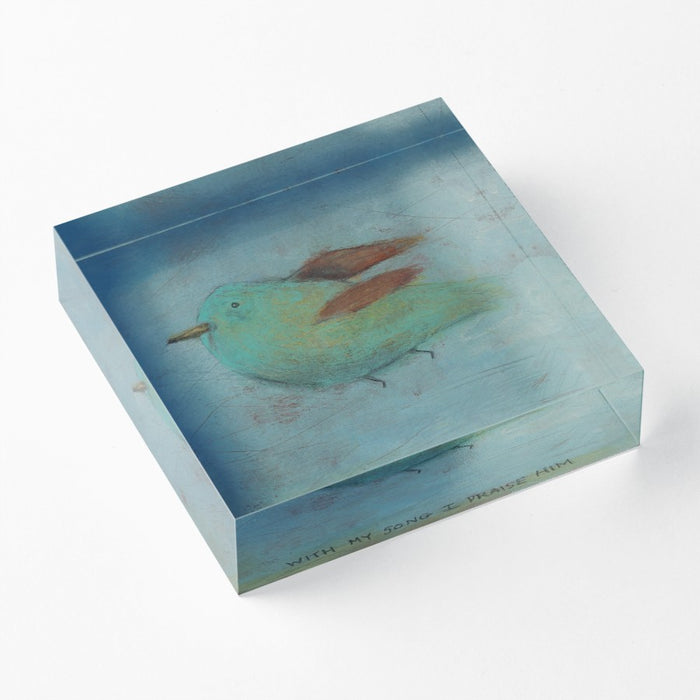 "With My Song 1"" Decorative Acrylic Block"