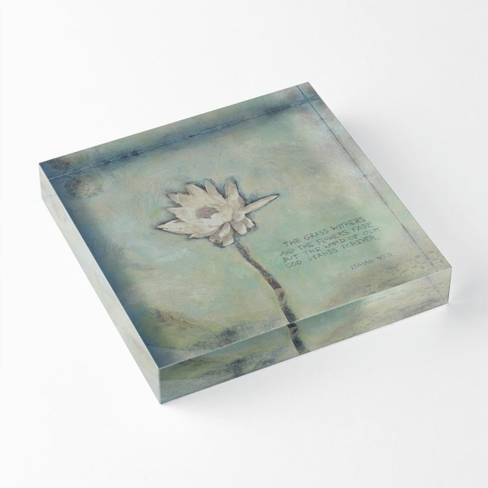 "Word of Our God 1"" Decorative Acrylic Block"