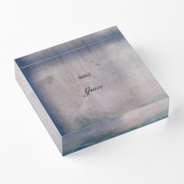 "Inhale 1"" Decorative Acrylic Block"