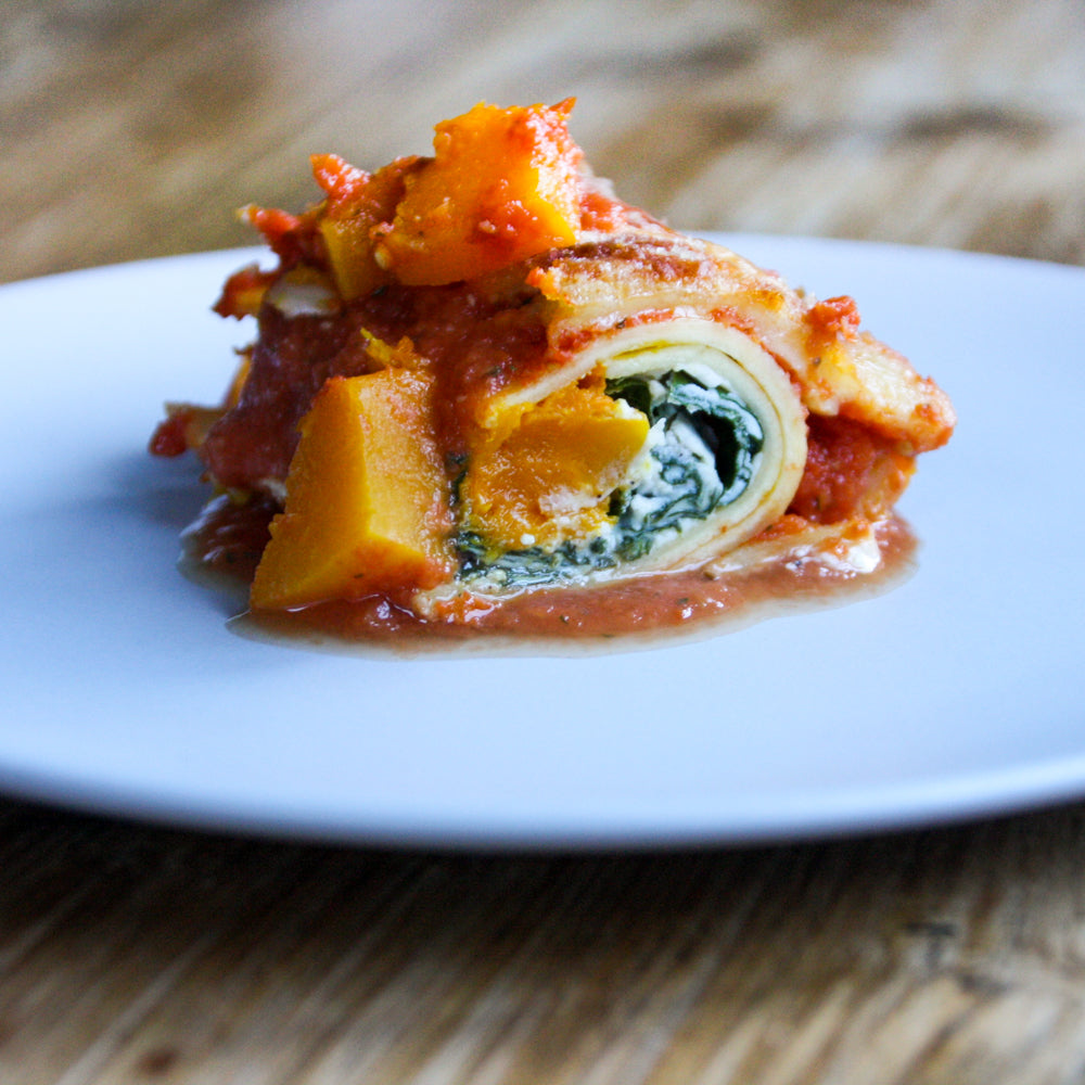 pumpkin spinach ricotta cannelloni tiny foragers