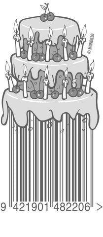 birthday cake barcode