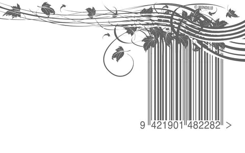 wind blown leaves barcode