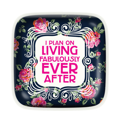 LIVING FABULOUSLY TRINKET DISH