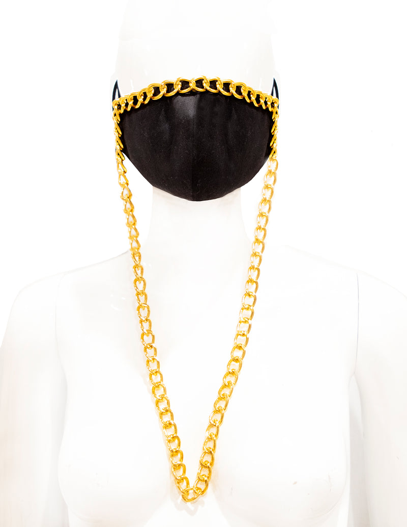 Laurel DeWitt Draped Chain Contour Mask