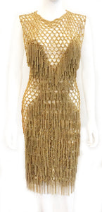 Fishnet & Fringe Dress
