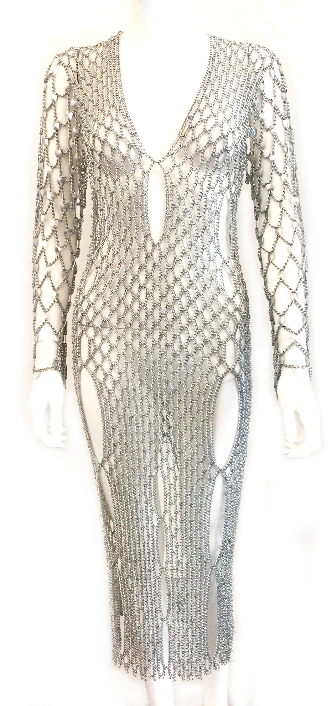 Chain Fishnet Sweater Dress